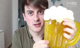 一次吃完1公斤的果冻啤酒杯?